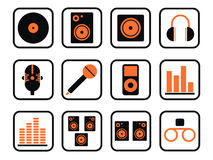 Music icon set Royalty Free Stock Images