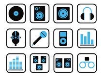 Music icon set Royalty Free Stock Photography