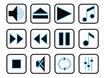 Music icon set Royalty Free Stock Image
