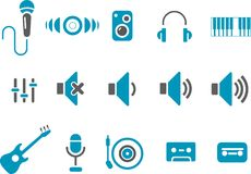 Music Icon Set Stock Images