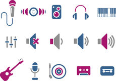 Music Icon Set Stock Photography