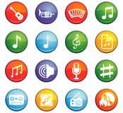 Music icon set Stock Photos