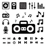 Music icon set. Stock Photo
