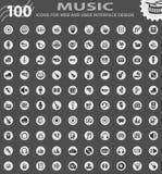 Music icon set Stock Photo
