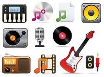 Music Icon Set One Stock Photo
