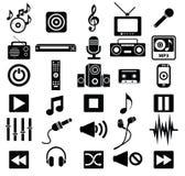 Music icon set Royalty Free Stock Photos