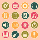 Music icon Royalty Free Stock Photography