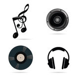 Music icon set vector illustration stock illustration