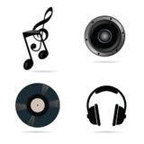 Music icon set vector illustration Royalty Free Stock Photo