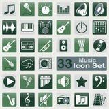 Music icon set Royalty Free Stock Photo