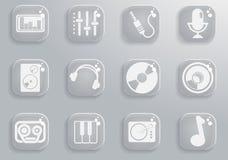 music icon set Stock Photos