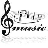Music icon Stock Image