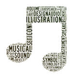 Music icon text clouds Stock Image