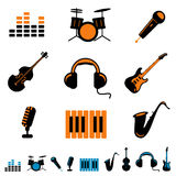 Music icon vector Stock Photography