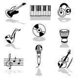 Music icons Stock Images