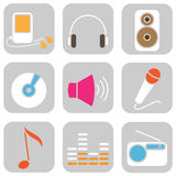 Music icons Royalty Free Stock Images