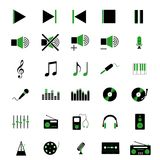 Music icons. Illustration of 30 different music icons Stock Photo