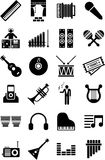 Music icons. This is a collection of music icons Stock Photography