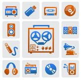 Music icons vector illustration