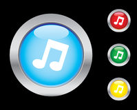 Music icons. Music glass button icons. Please check out my icons gallery Stock Images
