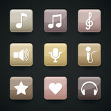Music icons for app Royalty Free Stock Photos
