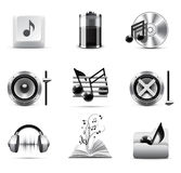 Music icons | B&W series Royalty Free Stock Photo