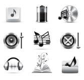 Music icons | B&W series Royalty Free Stock Photo