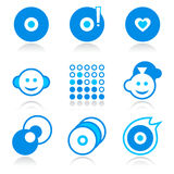 Music icons | BLUE series Stock Image