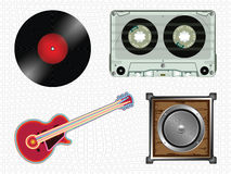 Music icons collection Royalty Free Stock Photos
