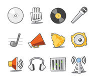 Music Icons Fresh Collection - Set 6. Professional Music and Media icon collection for websites, applications or presentations Stock Photo