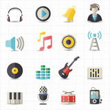 Music icons. This image is a vector illustration Stock Photos