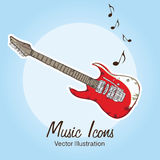 Music icons. (instruments, objects and elements) Vector illustration Stock Image