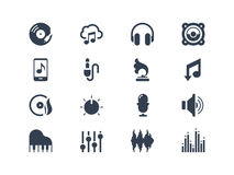 Music icons. Isolated on white Royalty Free Stock Photos