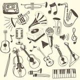 Music icons Stock Image