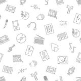 Music icons pattern Stock Photography