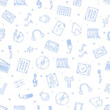 Music icons pattern Stock Image