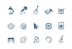 Music icons | piccolo series Royalty Free Stock Images