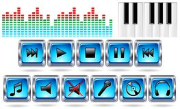 Music Icons Record-Vector Stock Image