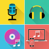 Music Icons Represents Symbol Melody And Track Stock Photo