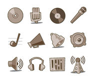 Music Icons Retro Fresh Collection - Set 6. Professional Music and Media icon collection for websites, applications or presentations Stock Image