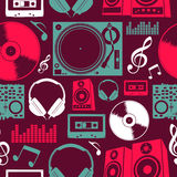 Music icons seamless pattern Stock Photo
