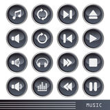 Music icons set Royalty Free Stock Photo