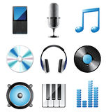 Music icons set. Highly detailed music icons set royalty free illustration