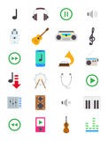 Music  icons set Royalty Free Stock Photos