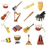 Music Icons set Stock Photos