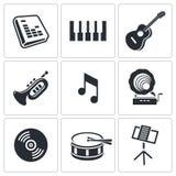 Music icons set Stock Image