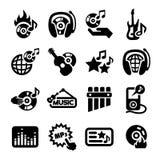 Music icons set Royalty Free Stock Image