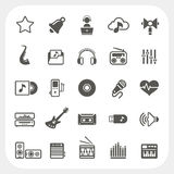 Music icons set Stock Images
