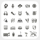 Music icons set. EPS10, Don't use transparency Stock Photos