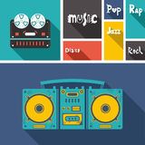 Music icons. Set of flat music icons Stock Photo